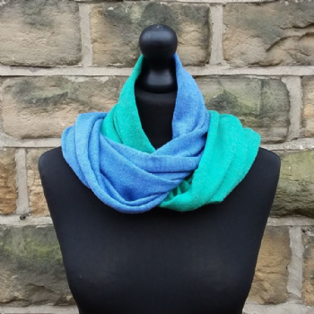 Hope Infinity Scarf Ming Green & Cornflower